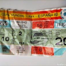 Coleccionismo deportivo: ENTRADA MUNDIAL DE FÚTBOL 82 INGLATERRA - FRANCIA EN SAN MAMÉS (BILBAO). Lote 257950255
