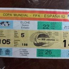 Coleccionismo deportivo: ENTRADA FUTBOL COPA MUNDIAL FIFA ESPAÑA 82 ELCHE ALICANTE Nº 170. Lote 259055175