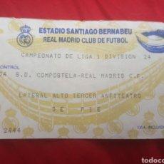 Coleccionismo deportivo: ENTRADA REAL MADRID COMPOSTELA 94 95 LIGA. Lote 259240040