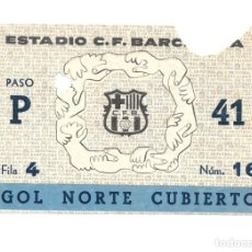 Coleccionismo deportivo: TICKET CF BARCELONA VS MILAN - COPA EUROPA 25-11-1959. Lote 259893745