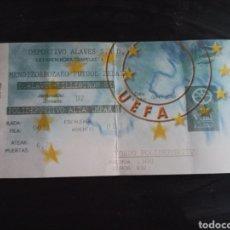 Coleccionismo deportivo: ENTRADA TICKET ALAVÉS LILLESTROM 00 01 UEFA. Lote 260597440