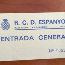 Coleccionismo deportivo: REAL CLUB DEPORTIVO ESPAÑOL ESPANYOL ENTRADA FUTBOL ORIGINAL ANTIGUA GENERAL. Lote 260771855