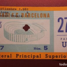 Coleccionismo deportivo: ENTRADA ESTADI F.C. BARCELONA, BACELONA - SPORTCLUB TRAKIA. Lote 262062085