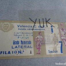 Coleccionismo deportivo: ENTRADA TICKET FUTBOL EN MESTALLA ---- VALENCIA CF 0 - BARCELONA 0 ---- 9-XI-1969. Lote 262717955