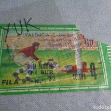 Coleccionismo deportivo: ENTRADA TICKET FUTBOL EN MESTALLA --- VALENCIA CF - LEVANTE U.D - 28-9-1963 - 1 VEZ EN 1ª DIVISION. Lote 262723190