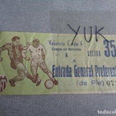 Coleccionismo deportivo: ENTRADA TICKET FUTBOL EN MESTALLA ---- VALENCIA CF - 1966. Lote 262735600