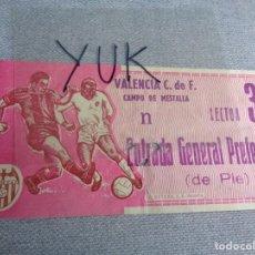 Coleccionismo deportivo: ENTRADA TICKET FUTBOL EN MESTALLA ---- VALENCIA CF - 1966. Lote 262735670