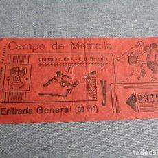Coleccionismo deportivo: ENTRADA TICKET FUTBOL EN MESTALLA ---- C.D MESTALLA - GRANADA CF ---- 1970. Lote 262736220