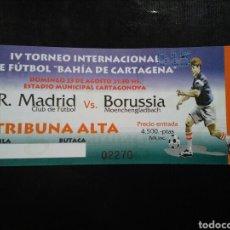 Coleccionismo deportivo: ENTRADA FUTBOL REAL MADRID BORUSSIA MOENCHENGLADBACH 1998. Lote 263222945