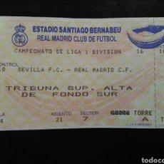 Coleccionismo deportivo: ENTRADA FÚTBOL REAL MADRID SEVILLA 94/95. Lote 263223170
