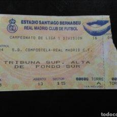 Coleccionismo deportivo: ENTRADA FÚTBOL REAL MADRID COMPOSTELA 94/95. Lote 263223515