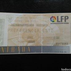 Coleccionismo deportivo: ENTRADA FÚTBOL ATHLETIC CLUB ESPANYOL 98/99. Lote 263225090
