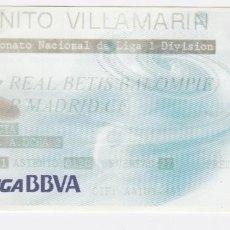 Coleccionismo deportivo: BENITO VILLAMARIN CAMPEONATO N. DE LIGA 1 DIVISIÓN REAL BETIS BALOMPIE - REAL MADRID CF. Lote 265564219