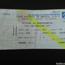 Collectionnisme sportif: ENTRADA FÚTBOL ATLÉTICO MADRID PARMA RECOPA 92/93. Lote 266275018