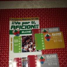 Coleccionismo deportivo: ELCHE, C. F. - CAMPAÑA DE ABONOS 1997/98 - FOLLETO PUBLICITARIO. Lote 267525264