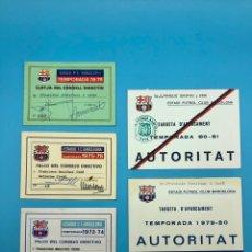 Coleccionismo deportivo: ENTRADAS,PASES ANUALES GOBIERNO CIVIL,FCB ,FUTBOL CLUB BARCELONA ,BARCA. Lote 267929444