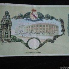 Collezionismo sportivo: ENTRADA ABONO FUTBOL 50 ANIVERSARIO REAL MADRID 1959. Lote 268760104
