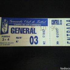 Coleccionismo deportivo: ENTRADA FÚTBOL GRANADA MELILLA 1994 COPA. Lote 268902834