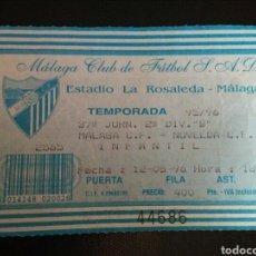 Coleccionismo deportivo: ENTRADA FÚTBOL MALAGA NOVELDA 1996. Lote 268903539