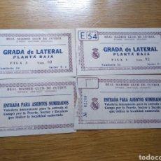Collezionismo sportivo: LOTE DE ENTRADAS AL ESTADIO SANTIAGO BERNABÉU 1960. Lote 268977399