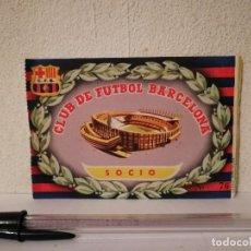 Coleccionismo deportivo: ANTIGUA ENTRADA - CLUB DE FUTBOL BARCELONA SOCIO - BARÇA - AÑOS 50. Lote 269327703