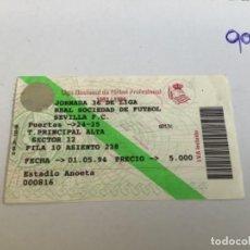 Coleccionismo deportivo: ENTRADA SEVILLA FC. 1993-1994 REAL SOCIEDAD. Lote 270616743