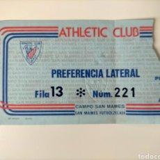 Coleccionismo deportivo: ENTRADA ATHLETIC CLUB AÑOS 80. Lote 270655108