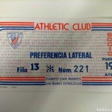 Coleccionismo deportivo: ENTRADA ATHLETIC CLUB AÑOS 80. Lote 270655598