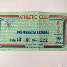 Coleccionismo deportivo: ENTRADA ATHLETIC CLUB AÑOS 80. Lote 270655703