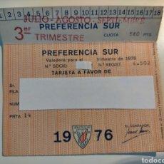 Coleccionismo deportivo: ABONO ATHLETIC CLUB TEMPORADA 1976 3° TRIMESTRE PREFERENCIA SUR. Lote 270657723