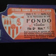 Colecionismo desportivo: ENTRADA FÚTBOL SEVILLA ELCHE 1972. Lote 271845303