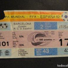 Collectionnisme sportif: COPA MUNDIAL ESPAÑA 82 - 2º FASE , ESTADIO R. C. D. ESPAÑOL. Lote 275160258