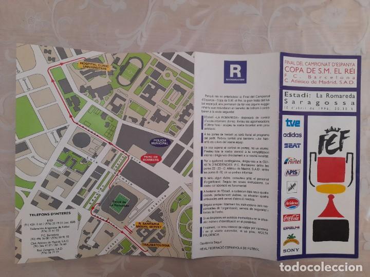 FINAL COPA DEL REY FUTBOL CLUB BARCELONA ATLÉTICO DE MADRID 1996 (Coleccionismo Deportivo - Documentos de Deportes - Entradas de Fútbol)