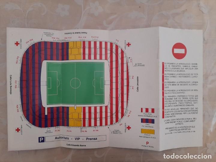 Coleccionismo deportivo: FINAL COPA DEL REY FUTBOL CLUB BARCELONA ATLÉTICO DE MADRID 1996 - Foto 2 - 275656848