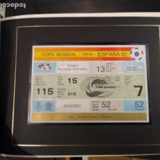 Colecionismo desportivo: ENTRADA FÚTBOL ESPAÑA 82. FINAL COPA MUNDIAL FIFA. ITALIA-ALEMANIA. SANTIAGO BERNABEU. ORIGINAL. Lote 275698348