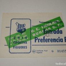 Collectionnisme sportif: ENTRADA DE FÚTBOL - COPA DEL REY 29 ABRIL 1981 - UE FIGUERES - BURGOS CF. Lote 276265453