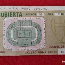 Collectionnisme sportif: ENTRADA FUTBOL REAL MADRID PORTO OPORTO PORTUGAL 1987 ANTIGUA ORIGINAL EF4283. Lote 277172258