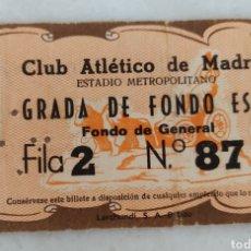 Collectionnisme sportif: ENTRADA DE FUTBOL CLUB ATLETICO DE MADRID METROPOLITANO AÑO 1954. Lote 277475783