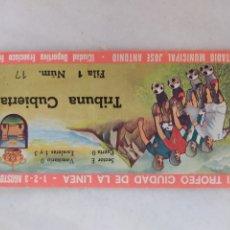 Colecionismo desportivo: ENTRADA FUTBOL VI TROFEO CIUDAD DE LA LINEA 1975. Lote 277518513