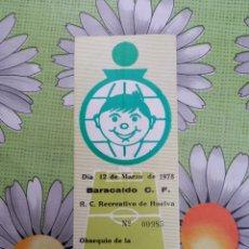 Coleccionismo deportivo: ENTRADA ANTIGUA DE FUTBOL ENTRE BARACALDO Y RECREATIVO CON FECHA DEL 12/03/1978. Lote 277841843