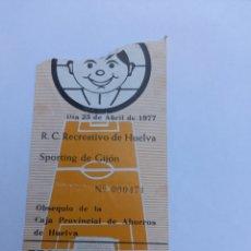 Coleccionismo deportivo: ENTRADA ANTIGUA DE FUTBOL RECREATIVO/SPORTING DE GIJON AÑO 23/04/1977. Lote 278277783