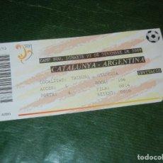 Coleccionismo deportivo: ENTRADA CAMP NOU. 22-12-2009. CATALUNYA- ARGENTINA. Lote 278842398