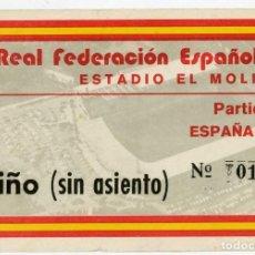 Coleccionismo deportivo: ENTRADA FUTBOL TICKET SPAIN ESPAÑA CZECH REPUBLIC CHECOSLOVAQUIA GIJON EL MOLINON 1980 ABRIL 16. Lote 278877693