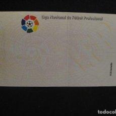Coleccionismo deportivo: ENTRADA DE LA LIGA NACIONAL DE FUTBOL PROFESIONAL - ABONADO - SIN IMPRIMIR. Lote 278950208