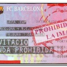 Coleccionismo deportivo: ENTRADA FÚTBOL FECHA 08-03-2001 BARCELONA 2 - CELTA 1 UEFA. Lote 280237143