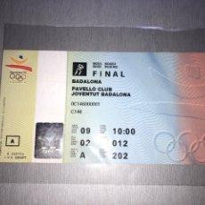Coleccionismo deportivo: BOXEO OSCAR DE LA HOYA MEDALLA ORO BARCELONA 92 TICKET ENTRADA. Lote 284688853
