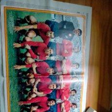 Coleccionismo deportivo: POSTER DE FUTBOL SELECCION ESPAÑOLA 1973 DE REVISTA ACTUALIDAD. Lote 287847533