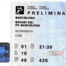 Coleccionismo deportivo: ENTRADA * JJOO BARCELONA 92 * FUTBOL - ESTADI F.C. B. Lote 288538868