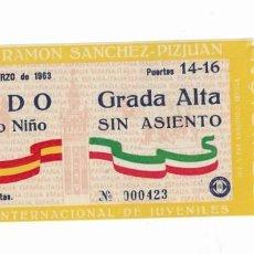 Coleccionismo deportivo: ENTRADA ANTIGUA - SEVILLA- 2 DE MARZO DE 1963-. Lote 288559038