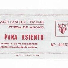 Coleccionismo deportivo: ENTRADA ANTIGUA- ESTADIO RAMÓN SÁNCHEZ PIZJUAN-. Lote 289507008